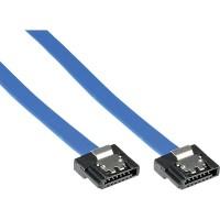 Câble InLine® SATA 6Gb / s petit avec loquets 0,15 m