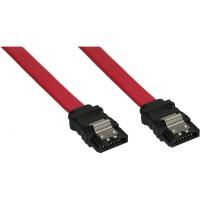 Câble de raccordement SATA, InLine®, avec languette de sécurité, 0,3m