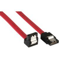 Câble de raccordement SATA plié, InLine®, avec languette de sécurité, 0,3m