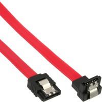 Câble de raccordement SATA plié, InLine®, avec languette de sécurité, 0,15m