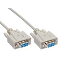 Câble null modem, InLine®, 9 broches fem./fem. 5m, encapsulé