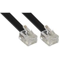 Câble modulaire RJ11, InLine®, mâle/mâle, 4 fils, 6P4C, 15m