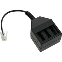 Adaptateur câble TAE RJ11 (6P4C) prise sur TAE NFN prise femelle