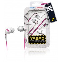 Philips O'Neill THE TREAD in-ear headphones white/pink