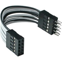 Extension interne USB InLine® 2x 5 broches mâle à femelle direct 5cm