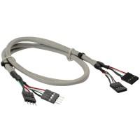 USB 2.0 Rallonge, interne, 2x 4 broches connecteur IDC sur connecteur IDC femelle, 60cm, bulk
