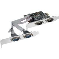 Carte d'interface InLine® 4 ports série 9 broches PCIe PCI-Express