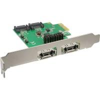 Carte contrôleur InLine® SATA 6Gb / s PCIe 2 + 2 canaux sans RAID