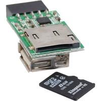 Lecteur de carte InLine® USB 2.0 interne pour cartes MicroSD