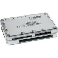 Lecteur de carte InLine® USB 3.0 multi-format tout-en-un argent