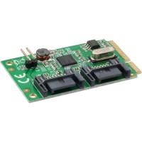 Carte InLine® Mini-PCIe 2x SATA 6Gb / s