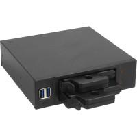 """Fond de panier 5,25 """"en face avant InLine® pour 2x HDD 2.5"""" avec 2x connecteur interne USB 3.0"""