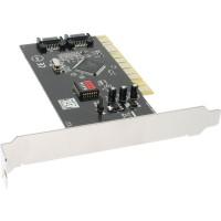 Carte d'interface, InLine®, SATA RAID contrôleur 2 voies, PCI