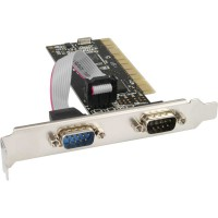 Carte d'interface, InLine®, 2x 9 broches sériel PCI