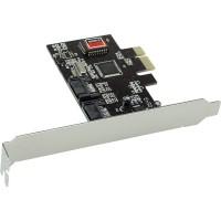 Carte d'interface, InLine®, 2x SATA II, RAID 0,1, PCIe (PCI-Express)