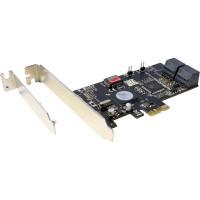 Contrôleur hôte InLine® 4x SATA II RAID 0/1/5/10 PCIe + support de logement extra-plat
