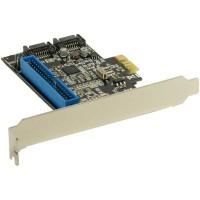 Contrôleur InLine® SATA / IDE 6 Gbps 2x SATA + 1x IDE RAID 0 et 1 PCI-E 2.0