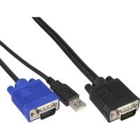 """KVM Jeu de câbles, InLine®, USB, pour 19"""" KVM Commutateur longueur 1,8m"""