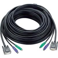 Jeu de câbles KVM, Aten 2L-1010P, VGA + PS / 2, avec code de couleur PC99, 10 m