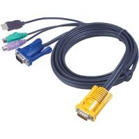 Câble KVM PS / 2-USB, Aten USB-PS / 2, 2L-5303UP, 3m