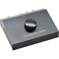 Audio commutateur manuel, 4 x, Cinch et 3,5mm jack