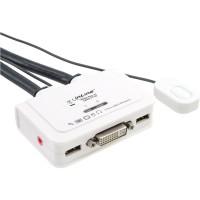 Commutateur KVM InLine® 2 ports DVI-D USB avec audio