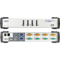 KVM Commutateur, ATEN, 4 x Dual View, CS1744, USB+Audio