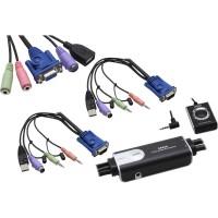 KVM Commutateur, Hybrid, ATEN Petite CS52A, PS/2, USB & Audio