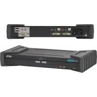 Commutateur sécurisé KVM, ATEN, 2 ports, CS1182, DVI, USB, audio