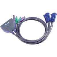 Commutateur KVM, 2 ports, ATEN CS62S, VGA, PS / 2