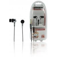 König écouteurs avec micro noirs