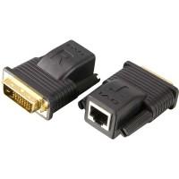 Extension DVI, ATEN VE066, max. 20 m de câble réseau DVI-D
