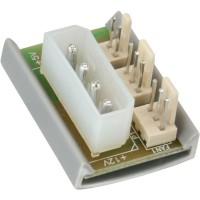 """Platine adaptateur d'électricité pour ventilateur, InLine®, 1x 5,25"""" - 2x ventilateur"""