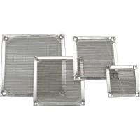 Grille ventilateur, InLine®, filtre aluminium, 80x80mm