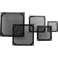 Grille ventilateur, InLine®, filtre aluminium, 120x120mm, noir