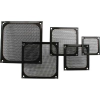 Grille ventilateur, InLine®, filtre aluminium, 80x80mm, noir