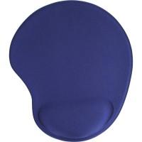 Tapis de souris InLine® avec repose-poignet en gel 230x205x20mm bleu