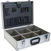 InLine® Toolbox verrouillable vide en aluminium argenté