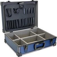 InLine® Toolbox verrouillable vide aluminium bleu / noir