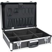 InLine® Toolbox verrouillable vide aluminium noir