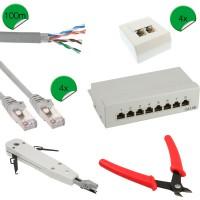 Kit d'installation réseau InLine® Cat.5e