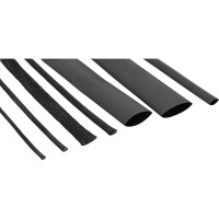 Kit tuyau pour câbles, InLine®, noir