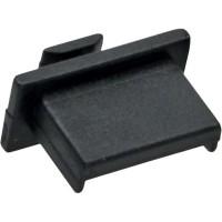 Protège-poussière, InLine®, pour USB A prise femelle, noir, conditionnement par 50