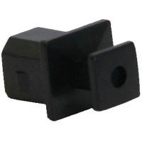 Housse anti-poussière InLine® pour prises USB type B noires 50 pcs. pack