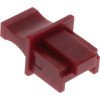 Protège-poussière, InLine®, pour RJ45 prise femelle, couleur: rouge