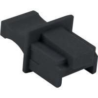 Protège-poussière, InLine®, pour RJ45 prise femelle, couleur: noir