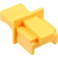 Protège-poussière, InLine®, pour RJ45 prise femelle, couleur: jaune