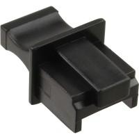 InLine® Dust Cover pour prise RJ45 noir 100 pcs. Pack