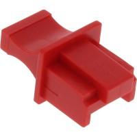 InLine® Dust Cover pour RJ45 socket rouge 100 pcs. Pack