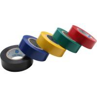 Ruban électrique InLine®, paquet de 5, couleurs multiples 18 mm x 9 m